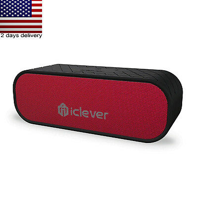 iClever 20W Portable Bluetooth Speakers 2 Subwoffer Water Resistant 12H Playtime
