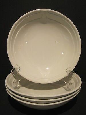 Johnson Brothers FOCUS White 4 Soup Cereal Pasta Bowls Ironstorne England