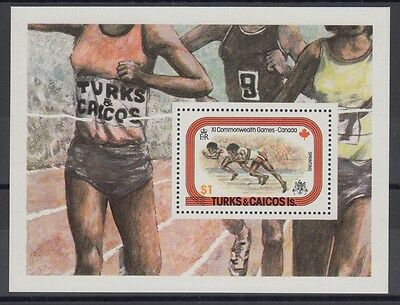 XG-AC057 Turks And Caicos Islands IND sports,1978 Commonwealth games MNH sheet