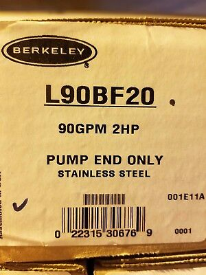 Berkeley 90 GPM / 2 HP Submersible SS pump end L90BF20