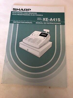 sharp xe a41s electronic cash register instruction manual only rh picclick com Sharp Register Cover Sharp Electronic Cash Register