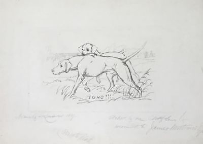 Charles Lewis (1808–1880) Antique Etching Of Pencil Drawing After Edwin Landseer