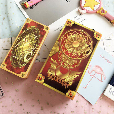 1Set/56Pcs Japan Anime Red Card Captor Sakura Clow Cards Collections Gift New