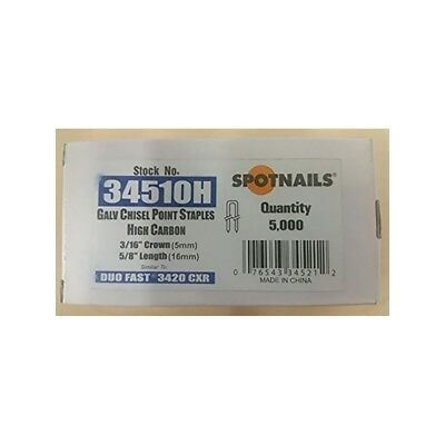 """Spotnails 34510H  3/16"""" Crown Fine Wire Staples (Box of 5,000)"""