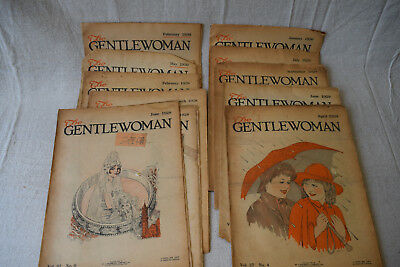 Lot of 11 Vintage The Gentlewoman Magazine Back Issues Retro Ads 1920's 1930