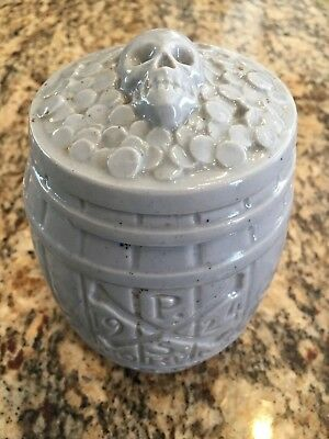 Extremely Rare Blue Milk Glass Poison Jar In Excellent Condition