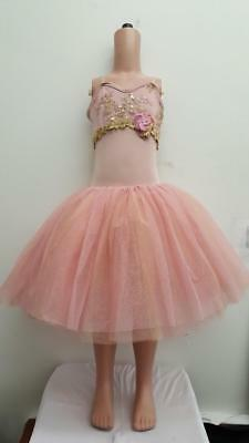 Dance Costume Medium Child Pink Ballet Curtain Call Solo Competition Pageant