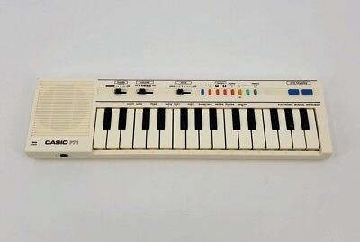 Vintage Casio PT-1 Compact Electronic Keyboard Synthesizer White Synth Japan