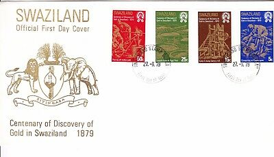Swaziland 1979 Gold Discovery Centenary First Day Cover Unaddressed