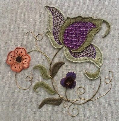 Jacobean Study- a crewel embroidery kit for beginners
