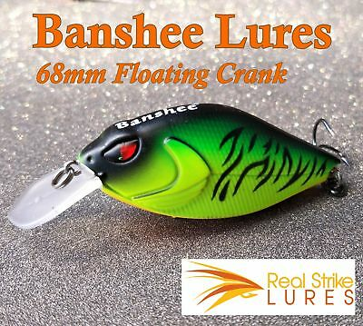Banshee Fishing lures Bream Bass Trout Yellowbelly Redfin Perch Murray Cod Ba...