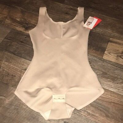 """NEW NWT"""" spanx Strm Line Open Bust Bodysuit Shapewear 561001 Nude Brown S M L XL"""