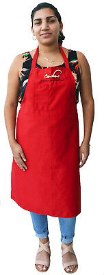"""Cuba Aroma de Libertad"" ""Cuba the scent of freedom"" Embroidered Long Red Apron"