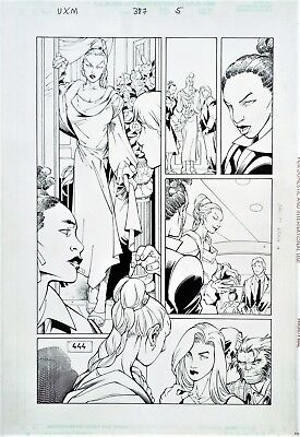 Uncanny X-Men #387 Page Original Art Beautiful Storm Splash Jean Grey Beast 2000