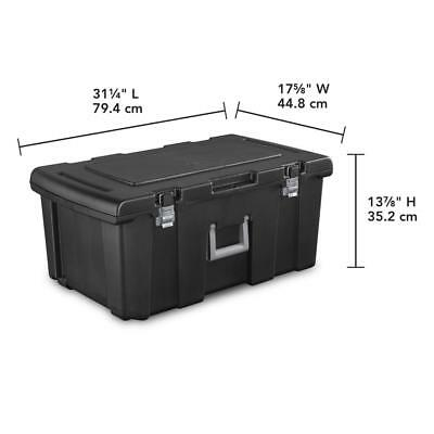 Storage Trunk Wheeled Container Tool Box Chest Dorm Camping Garage Organizer