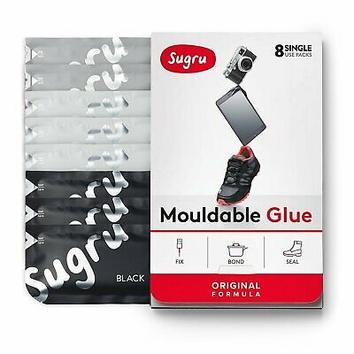 Sugru Mouldable Glue - It turns into rubber‎ - 8 Pack [Black White Grey]