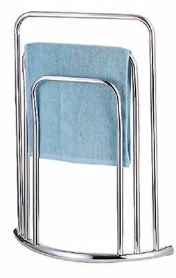 New Metal Bow Fronted Style Chrome 3 Tier Free Standing Towel Stand Rail