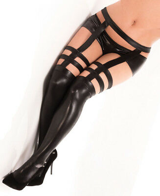Wet Look Stockings One Size and Plus
