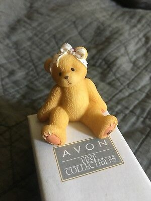 ENESCO 1998  AVON Cherished Teddies Sparkles Mini-Figurine June Alexandrite