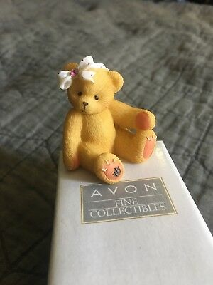ENESCO 1998  AVON Cherished Teddies Sparkles Mini-Figurine October Tourmaline