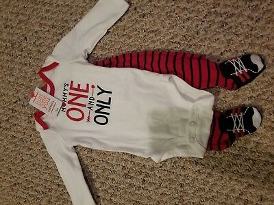 CARTERS INFANT BABY BOY MOMMYS ONE AND ONLY OUTFIT CLOTHES 3 months