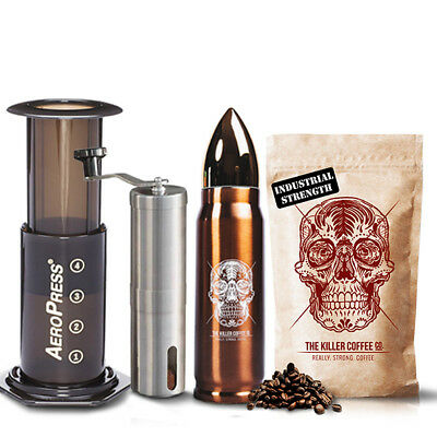 Killer Survival Pack - All-In-One Coffee Brewing Pack + Strong Smooth Coffee