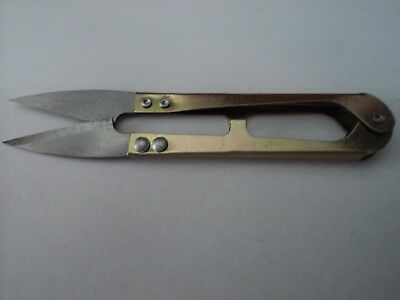 Gold  Clippers Embroidery Sewing Knitting Crochet Handyman Snipper Scissors