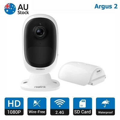 Reolink Argus 2 1080P Wire-Free IP Security Camera Rechargeable Battery Monitor