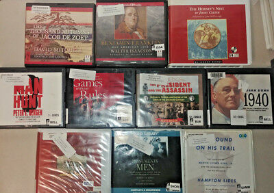 History non Fiction Audio Books Lot of 10 CD FREE SHIPPING Unabridged A-45