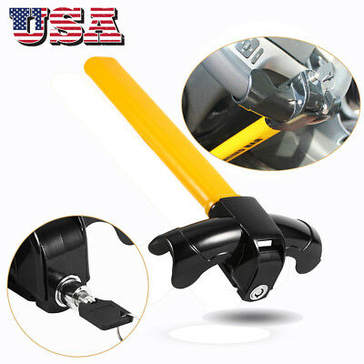 Universal AUTO Anti Theft Car Security Rotary Steering Wheel Lock Free Shipping