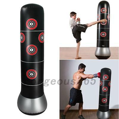 AU 1.6m Inflatable Boxing Punching Bag MMA Kick Martial Training With Air Pump