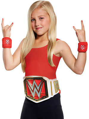 Girls WWE World Wrestling Wrestler Championship Belt And Bands Accessory Kit
