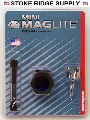 New Maglite AA Accessory Pack AM2A016L MINI Mag-lite Lens Anti Roll 2 Cell AA