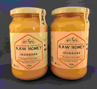 Raw Honey, Ironbark, Twin Pack, 2 * 500gms jars free shipping