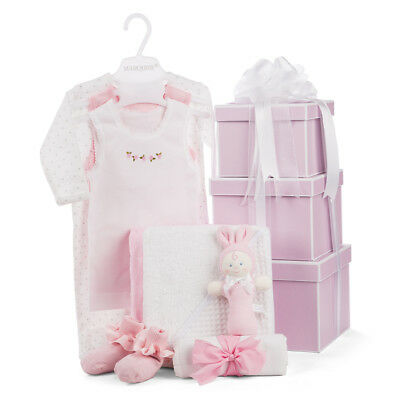 NEW Boz Luxe Boutique Baby Hamper Pink