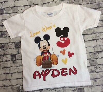 1 Personalized Mickey Mouse Birthday T Shirt Name Disney World