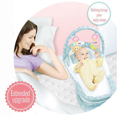 Baby Separate Bed Portable Infant Sleeper Travel Bassinet with Music and Light