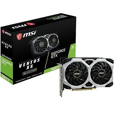 MSI GeForce GTX 1660 VENTUS XS 6G OC Gaming Graphics Card + FREE Belkin Cable
