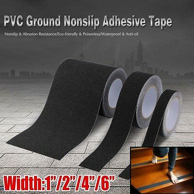 Anti Slip Non Skid High Traction Safety Grit Grip Tape Strips Adhesive Black