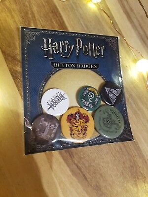 New Harry Potter button Pin Badges Hogwarts Deathly Hallows Ravenclaw Hufflepuff