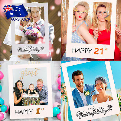 1st 30th 40th Photo Booth Props Picture Frame Wedding Birthday Party Decorations