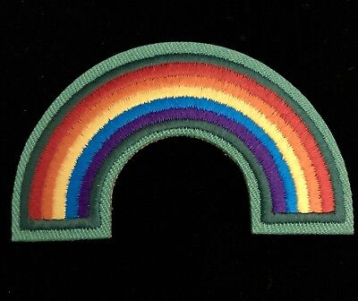 Girl scouts cadettes badge patch~bridge to juniors~curved rainbow.