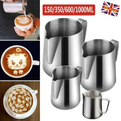 Stainless Steel Milk Frothing Jug Frother Coffee Latte Container Metal Pitchers