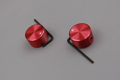 2Pcs red aluminum 25*15.5*6mm knob cap for potentiometer audio equipment