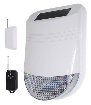 Wireless Solar Siren with Universal Transmitter (connect to existing alarms)