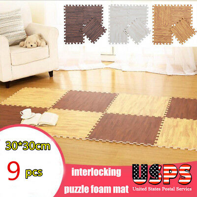 9PCS Puzzle Play Baby Carpet Floor Crawling Kid Foam Soft Rug Activity Tile Mat