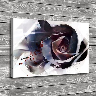 Abstract Paper Rose Flower Home Decor HD Canvas Print Picture Wall Art Painting
