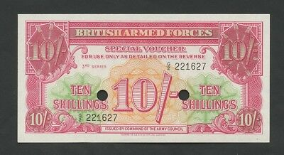 BRITISH ARMED FORCES  10 sh  1956  3rd Series  M28b  Uncirculated  Banknotes
