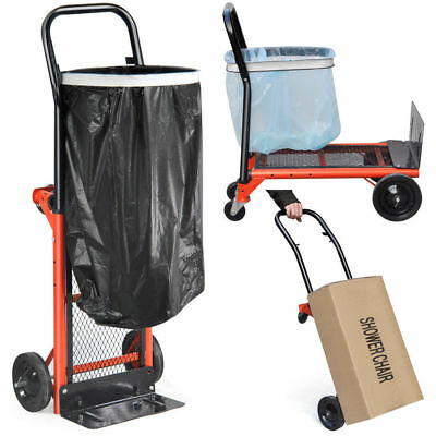 80KG Adjustable Cart Folding Dolly Trolley Push Hand Truck Moving Warehouse US