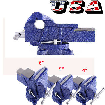 "New 4""/5""/6"" Vise Work Table Bench Clamp Swivel Rotated Vice Repair Tool US"